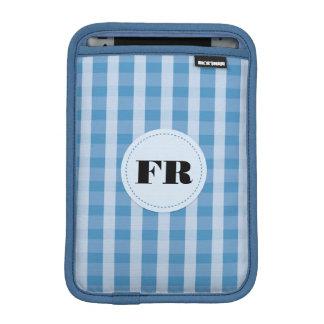 blue stripes & circle badge ipad mini sleeve