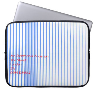 Blue Stripes Computer Sleeve