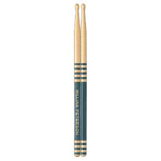 Blue Stripes Custom Name V17A Drum Sticks