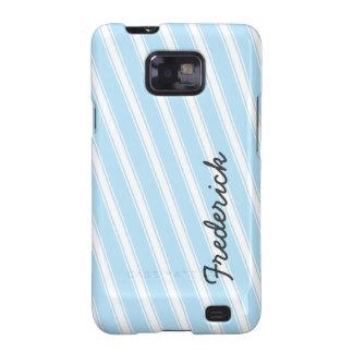 Blue Stripes Custom Samsung Galaxy Cell Phone Case Samsung Galaxy S2 Cover
