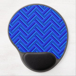 Blue stripes double weave pattern gel mouse pad