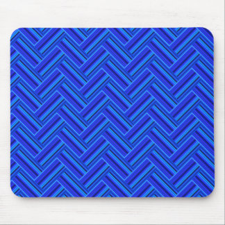 Blue stripes double weave pattern mouse pad