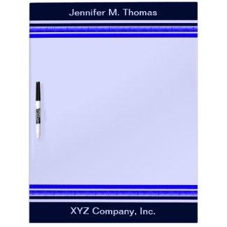 Blue stripes dry erase whiteboards
