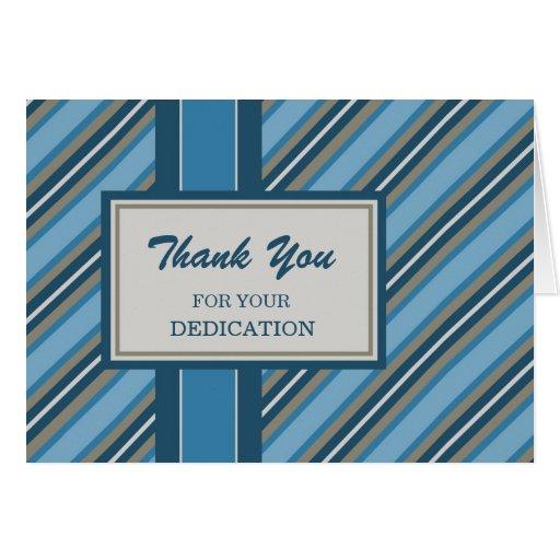 Blue Stripes Employee Anniversary Card