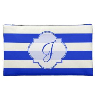 Blue stripes fashion cosmetic bag