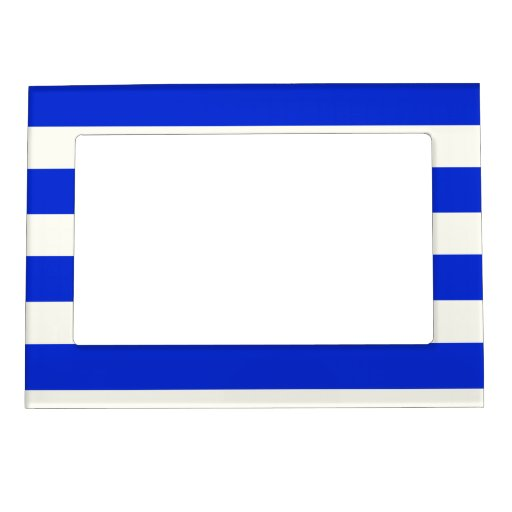 Blue stripes fashion picture frame magnets