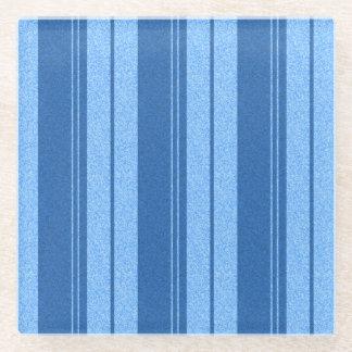 Blue Stripes Glass Coaster
