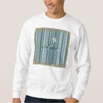 blue stripes,gold,trendy,butterfly,pattern,girly, sweatshirt