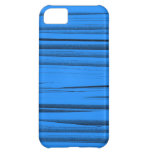 Blue stripes graphic art iPhone 5C covers