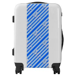 Blue Stripes His Mr. Luggage