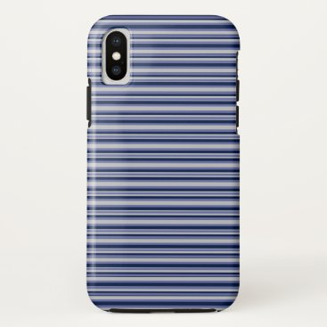Beach Themed Blue Stripes iPhone X Case