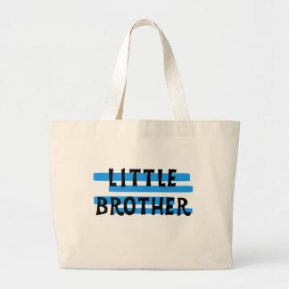 Blue Stripes Little Brother Large Tote Bag