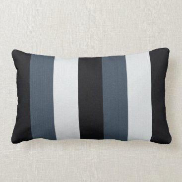 Beach Themed Blue Stripes Lumbar Pillow