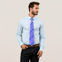Blue stripes neck tie