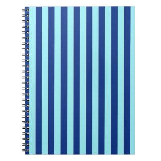 Blue Stripes Spiral Notebooks