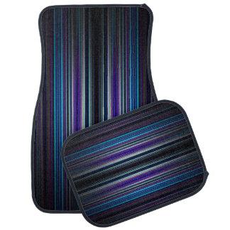 Blue stripes pattern car mats