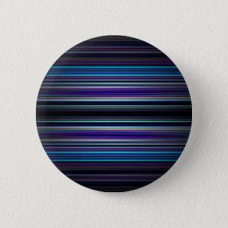 Blue stripes pattern pinback button