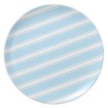 Blue Stripes Pattern Plate