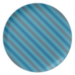 Blue Stripes Plate