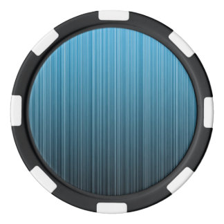 Blue Stripes Poker Chips Set