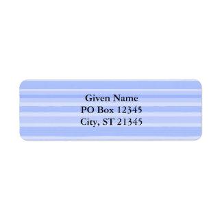 Blue Stripes Return Address Label
