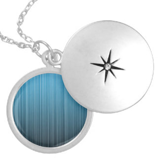 Blue Stripes Silver Plated Necklace