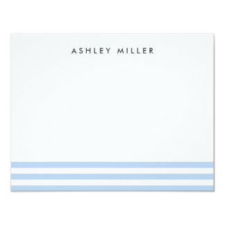 Blue Stripes Stationery Personalized Invite Card