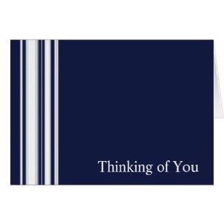 Blue Stripes Sympathy Card
