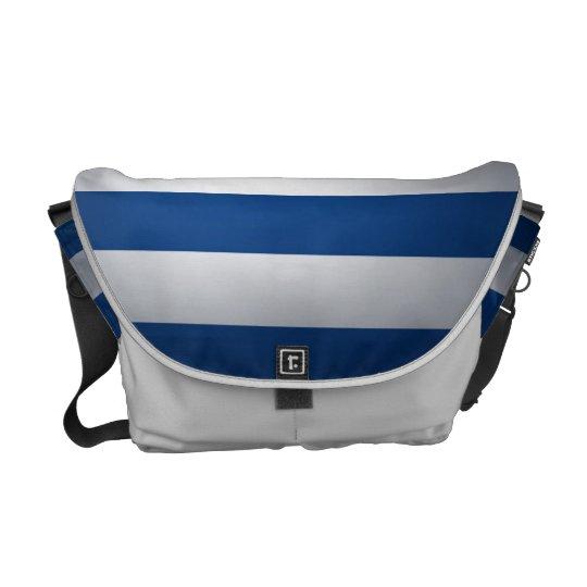 Blue Stripes Vintage Messenger Bag