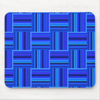 Blue stripes weave pattern mouse pad