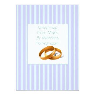 Blue Stripes - Wedding Rings Card