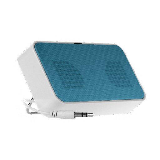 blue stripey doodle speakers
