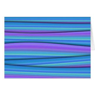 Blue Strips Greeting Card