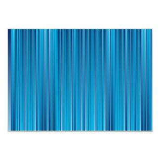 "Blue Strips 5"" X 7"" Invitation Card"