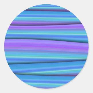 Blue Strips Stickers