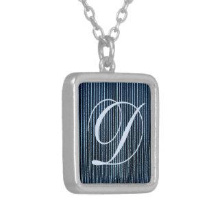 Blue stripy custom Necklaces