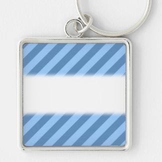 Blue Stripy Pattern. Keychains
