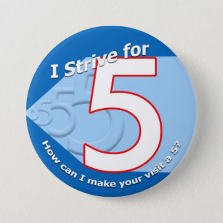 Blue - Strive for 5 Buttons