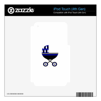 Blue Stroller Decal For iPod Touch 4G