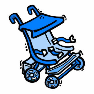 blue stroller acrylic cut outs