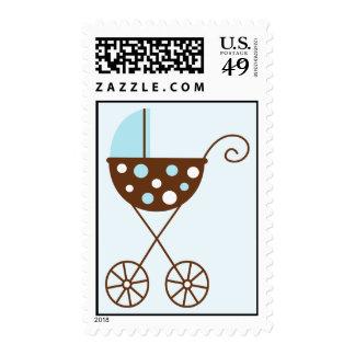Blue Stroller Postage Stamp
