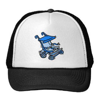 blue stroller trucker hat