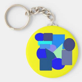 blue stuff 2 basic round button keychain