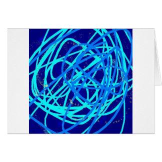 blue stuff greeting card