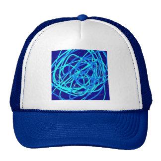 blue stuff trucker hat