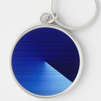 Blue Style Premium Round Keychain