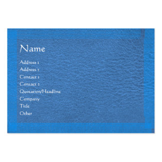 Blue Stylish Border n Surface Large Business Card