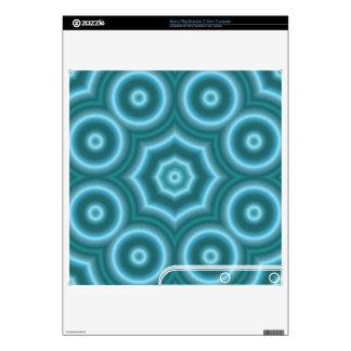 Blue Stylish circle pattern PS3 Slim Decals