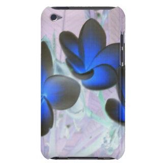Blue Stylish Flower iPod Case-Mate Cases