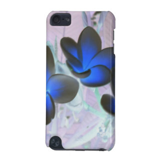 Blue Stylish Flower iPod Touch (5th Generation) Cases